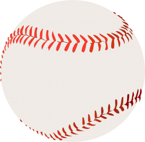 A picture of a baseball with a blank background and red seams: Different Types of Baseballs [MindfuseBaseball.com]