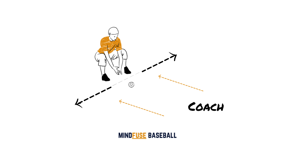 Coach Roll to Pick Up Baseball Drill